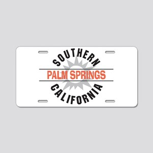 Palm Springs California Aluminum License Plate