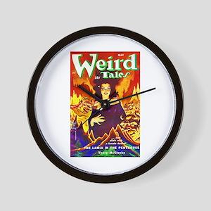 Weird Demon Woman Cover Art Wall Clock