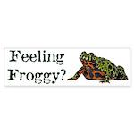 Feeling Froggy? Sticker (Bumper 10 pk)