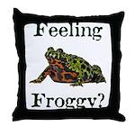 Feeling Froggy? Throw Pillow