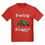 Feeling Froggy? Kids Dark T-Shirt