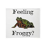 Feeling Froggy? Throw Blanket