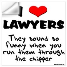 Lawyer Chipper Wall Decal