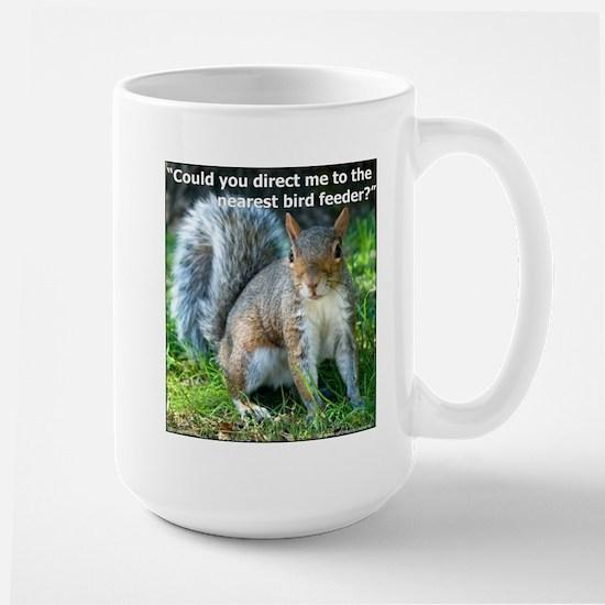 Squirrel Bird Large Mug