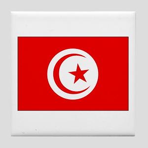 Cheer for Tunisia 's Soccer Team Tile Coaster