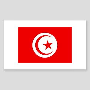 Cheer for Tunisia 's Soccer Team Sticker (Rectangu