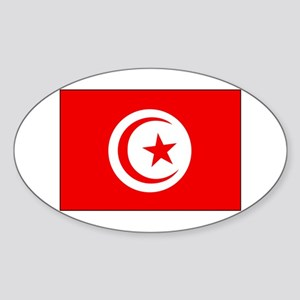 Cheer for Tunisia 's Soccer Team Oval Sticker