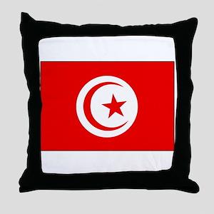 Cheer for Tunisia 's Soccer Team Throw Pillow