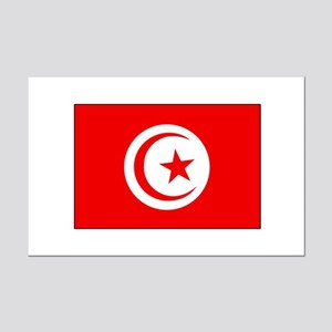 Cheer for Tunisia 's Soccer Team Mini Poster Print