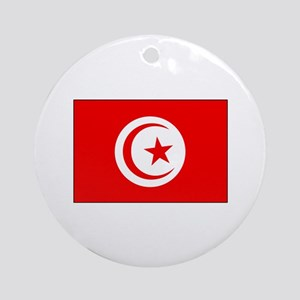 Cheer for Tunisia 's Soccer Team Ornament (Round)