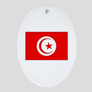 Cheer for Tunisia 's Soccer Team Oval Ornament