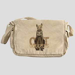 Egyptian Cat Goddess Messenger Bag
