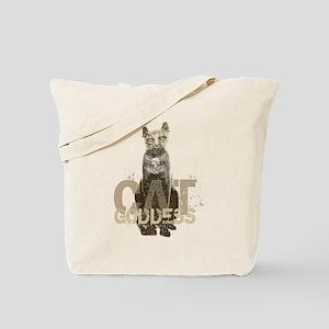 Egyptian Cat Goddess Tote Bag