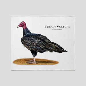 Turkey Vulture Throw Blanket