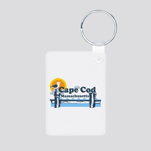 Cape Cod MA - Pier Design Aluminum Photo Keychain