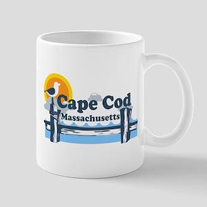 Cape Cod MA - Pier Design Mug