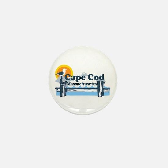 Cape Cod MA - Pier Design Mini Button