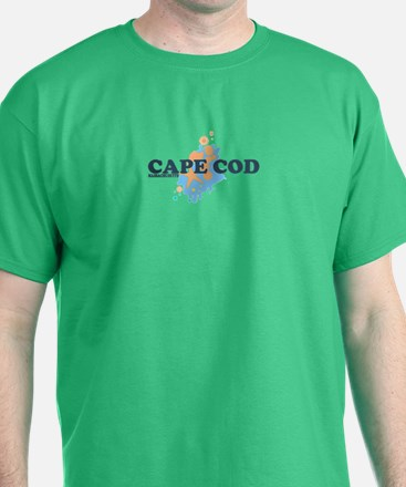 Cape Cod MA - Seashells Design T-Shirt