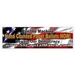 Flag Hand-Counted Paper Ballots NOW! BumperSticker