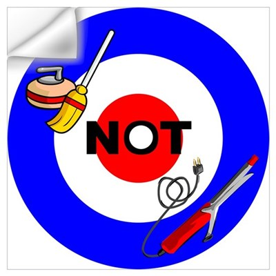 Curling NOT Curling Wall Decal