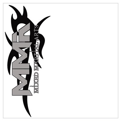 MMA Tribal Black Logo Sideway Poster