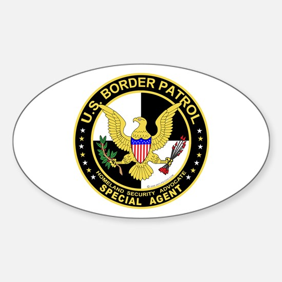 US Border Patrol SpAgnt Oval Decal