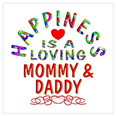 Mommy & Daddy Canvas Art