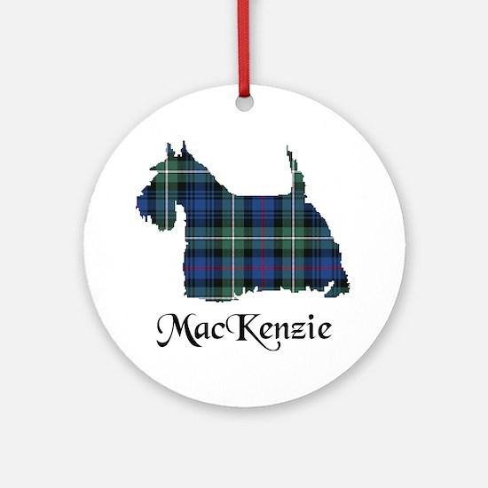 Terrier-MacKenzie Round Ornament