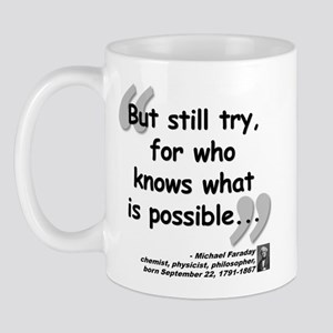 Faraday Try Quote Mug