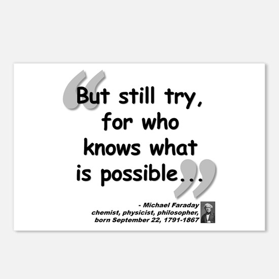 Faraday Try Quote Postcards (Package of 8)