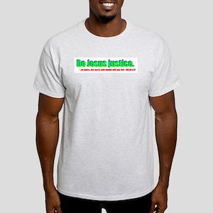 Jesus Justice Ash Grey T-Shirt