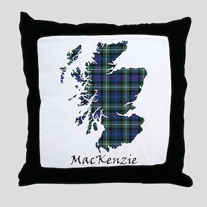 Map-MacKenzie Throw Pillow