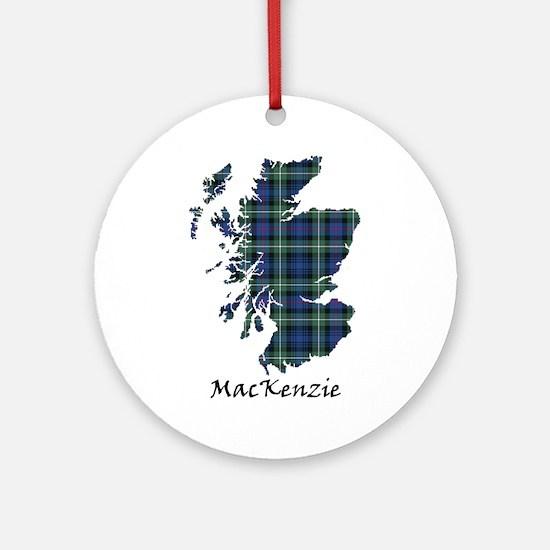 Map-MacKenzie Round Ornament