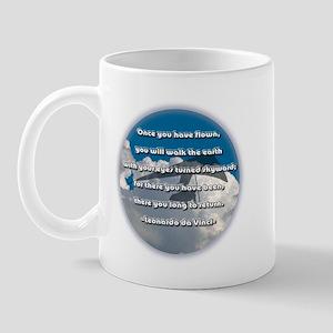 """""""Leonardo da Vinci Quote"""" Mug"""