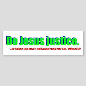 Jesus Justice Bumper Sticker