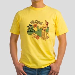 Aloha Hula Girl Yellow T-Shirt