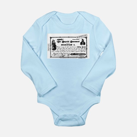 Bank Of Malaclypse Long Sleeve Infant Bodysuit