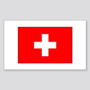 Swiss Flag for Swiss Pride Rectangle Sticker