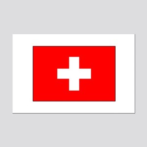 Swiss Flag for Swiss Pride Mini Poster Print