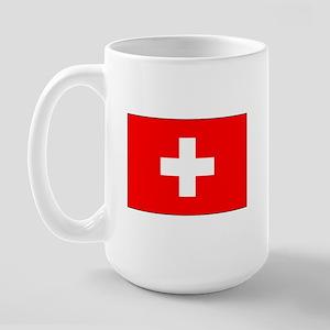 Swiss Flag for Swiss Pride Large Mug