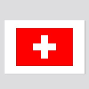 Swiss Flag for Swiss Pride Postcards (Package of 8