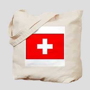 Swiss Flag for Swiss Pride Tote Bag