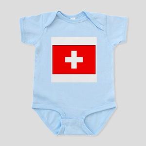 Swiss Flag for Swiss Pride Infant Creeper