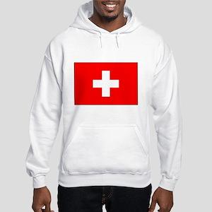 Swiss Flag for Swiss Pride Hooded Sweatshirt