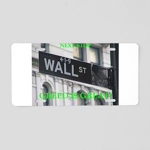 wall $treet Aluminum License Plate