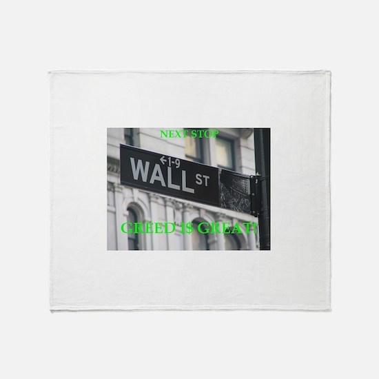 wall $treet Throw Blanket