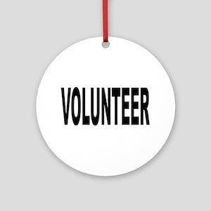 Volunteer Ornament (Round)
