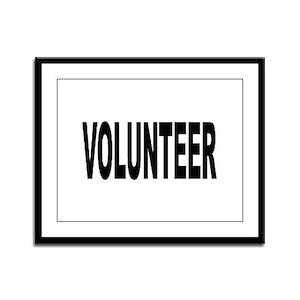 Volunteer Framed Panel Print