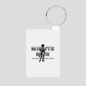 ABH Minute Man Aluminum Photo Keychain