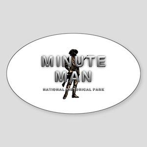 ABH Minute Man Sticker (Oval)